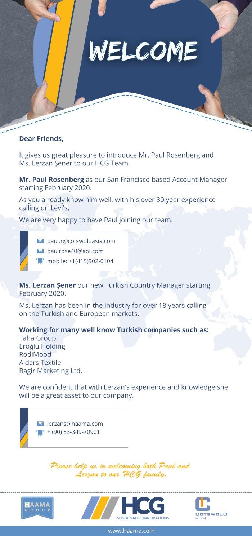 Pleasure to Introduce Mr. Paul Rosenberg and Ms. Lerzan Şener